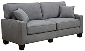 "Serta RTA Palisades Collection 73"" Sofa in Glacial Gray"