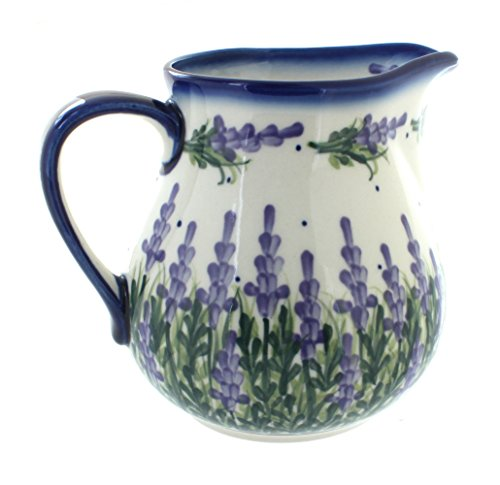 Polish Pottery Lavender Fields Pitcher