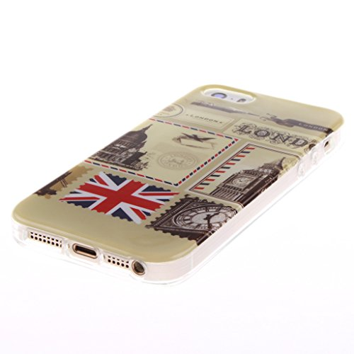 Iphone 5s coques Silicone TPU Gel ,Yaobai-Coque de protection en silicone TPU pour Apple Iphone 5s Etui case cover housse