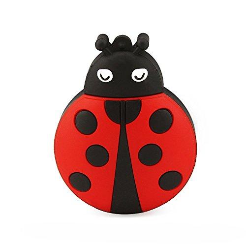 Ladybug Flash Drive (Funnyusb USB 3.0 Flash Drive 16 GB Cartoon Animal Ladybug Shape Pen Drive High Speed Flash Disk Thumb Stick(16GB Red) Cute Memory Stick Jump Drive (Red))