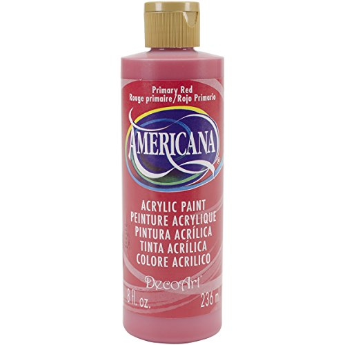 Oz Americana Paint Red 8 - DecoArt DA199-9 Americana Acrylics, 8-Ounce, Primary Red