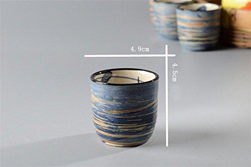 KCHAIN 5 in 1 Ceramic Sake Set Hand Painted Color (Blue) by KCHAIN (Image #6)