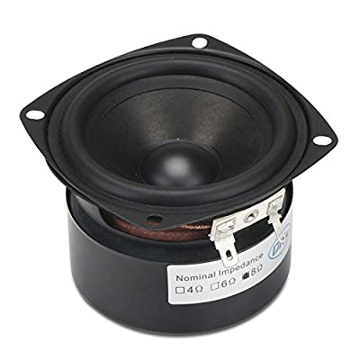 3 Inch Speaker, DROK 15W Antimagnetic Tweeter Speakers 3 Inch Round 8 Ohm HiFi Full-Range Speaker Strong Interference Immunity 52mm for DIY Audio Loudspeaker 8 Ohm Speakers: Car Electronics
