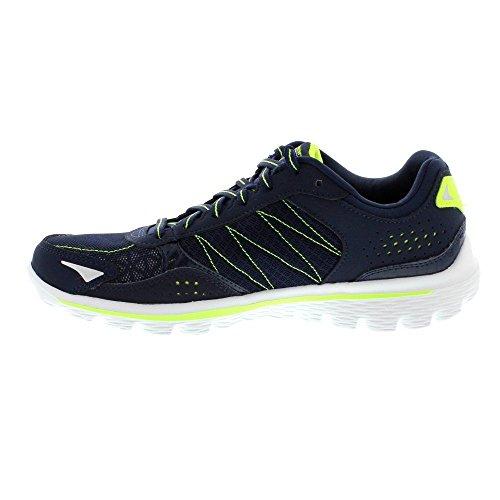 Traje de neopreno para mujer Skechers GO Walk 2 ligero Flash de entrenamiento para Running Zapatillas zapatos de diseño de encaje azul - azul marino