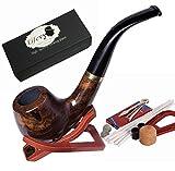 lifevv Lobular Ebony Smoking Pipe Elegant Tobacco