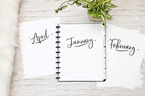 dc3f502abdf 2019 Monthly Calendar with Tabbed Dividers for Discbound Planners