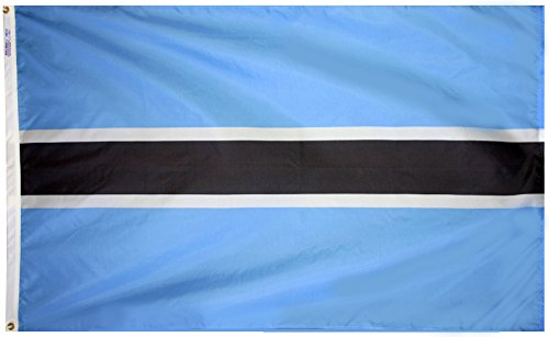 - Annin Flagmakers Model 190751 Botswana Flag 3x5 ft. Nylon SolarGuard Nyl-Glo 100% Made in USA to Official United Nations Design Specifications.
