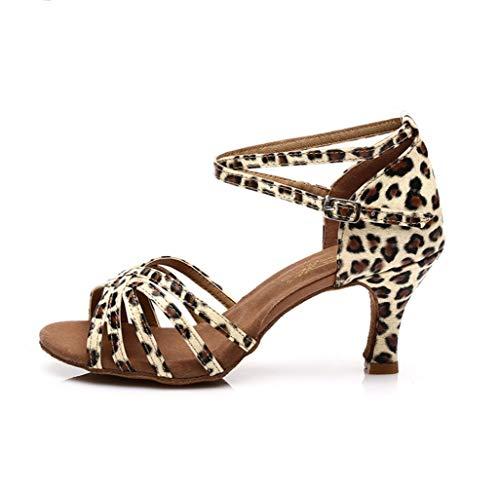 Leopardo Da Colore Con Ladies Adult Di Alto A Standard Scarpe Latino Ballo Tacco Uxw7dOUSq