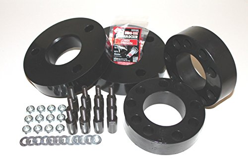 "RTZ - Fits Ford Expedition SUV Full Lift Kit Front 3"" Polyurethane Lift Spacers + Rear 2"" Polyurethane Spacers 4wd Black"