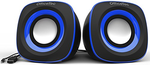 OfficeTec USB Speakers Compact 2.0 System for Mac and PC (Blue) by OfficeTec (Image #1)