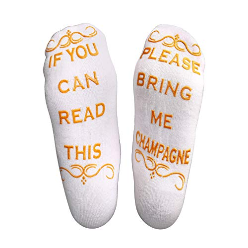 If You Can Read This Bring Me Champagne Socks - Luxury Novelty Socks for Women, Men, family and friends