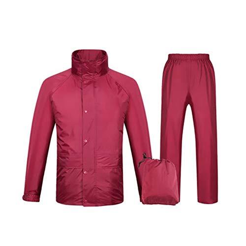 Crimson XXXL Llsdls Pantalon de Pluie Multi-Fonction à Double Couche, imperméable, épaissi for Adulte, imperméable à Capuche, Multi-Taille en Option (Couleur   Navy, Taille   XXL)