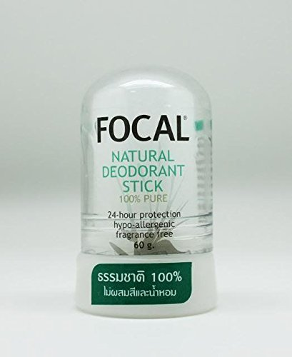 - Focal 100% Pure Natural Deodorant Aftershave Stick, Alum Crystal Deo Stone 60g