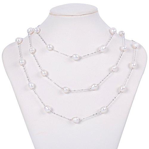 JFUME Cultured Freshwater Necklace Sterling