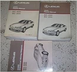 2000 lexus sc400 sc300 sc 400 sc 300 service repair shop manual set  dealership (2 volume set, and the electrical wiring diagram manual): lexus:  amazon com:
