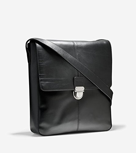 Cole Haan SMOOTH LEATHER N/S MESSENGER - Black ( 11.5