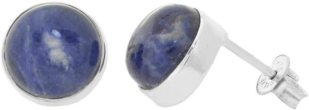 Erce - Pendientes de piedras preciosas (11 mm, plata 925)