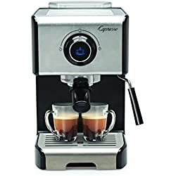 Capresso 123.05 EC300 Cappuccino Espresso Machine, 42, Stainless Steel/Black