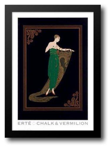 Emerald Night 15x18 Framed Art Print by Erte (Erte Emerald)
