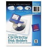 Self-Adhesive Media Pockets, 10/Pack, Total 24 PK, Sold as 1 Carton