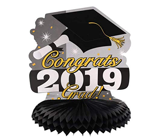Gold & Black Graduation Centerpiece 2019 10