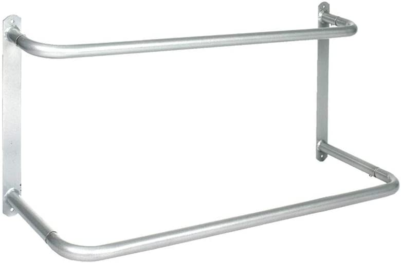 Horze Collapsible Bar Stable And Yard Saddle Rack Silver One Size