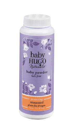 Hugo Naturals Baby Powder, Shea Butter, 3 Ounce Bottle, (Pack of 2) ()