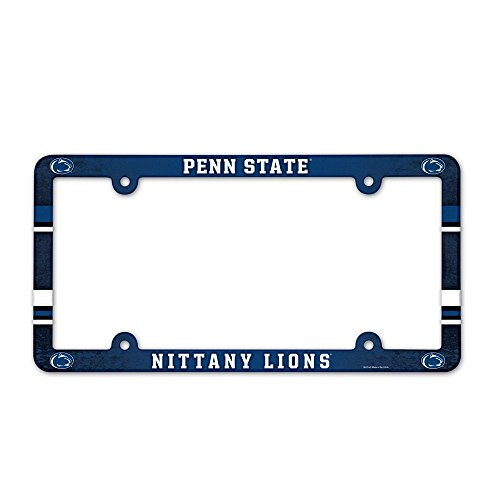 WinCraft NCAA Penn State University 90075012 LIC Full Color Plate Frame