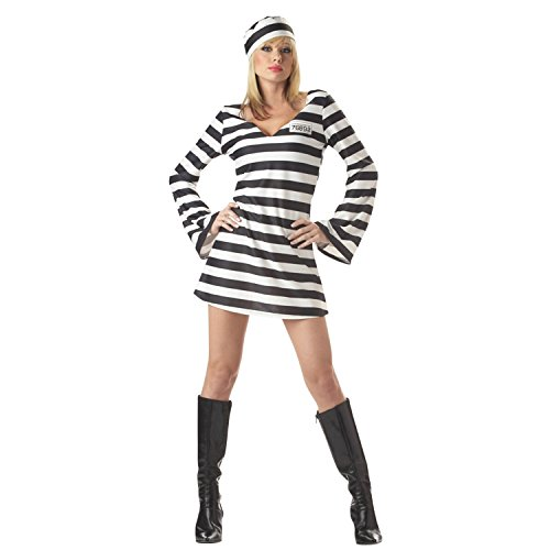 CHNS Haunted House Fun Costumes Little Child Boys' Womens Prisoner Costume