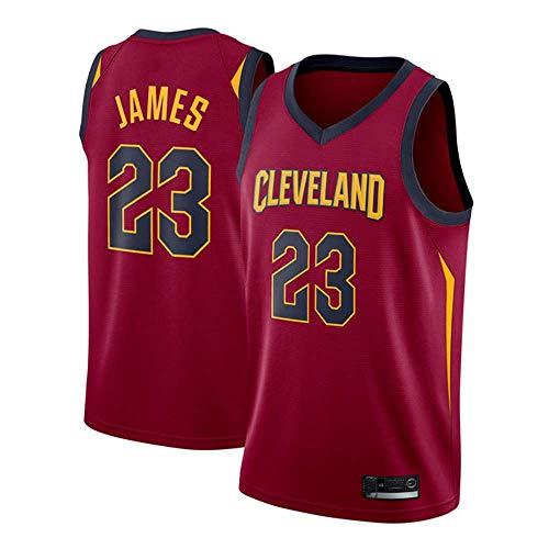 (Men's Basketball Jersey - NBA Basketball T-Shirt Cavs 23# James Embroidered Mesh Basketball Swingman)