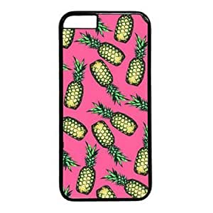 """iPhone 6 Case,Pineapple Pattern on Pink Background Case for iPhone 6(4.7"""") PC Material Black"""
