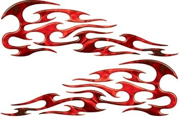 Amazoncom Full Color Reflective Inferno Red Tribal Motorcycle Gas