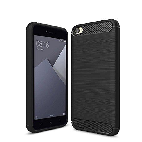Funda Xiaomi Redmi Note5A,Funda Fibra de carbono Alta Calidad Anti-Rasguño y Resistente Huellas Dactilares Totalmente Protectora Caso de Cuero Cover Case Adecuado para el Xiaomi Redmi Note5A A