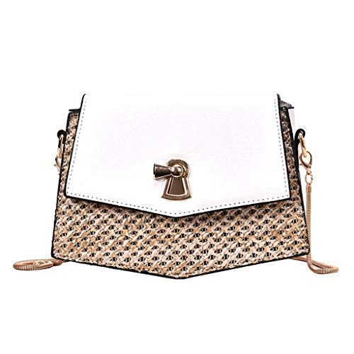 Womens Shoulder Bag Crossbody,SIN+MON Ladies Fashion Messenger Bag Woven Chains Purse Bag Hasp Cell Phone Bag Crossbody Bag