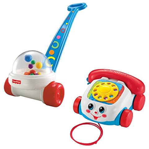 Fisher Price Brilliant Basics Corn Popper with Chatter Telephone - Fisher Price Chatter Telephone