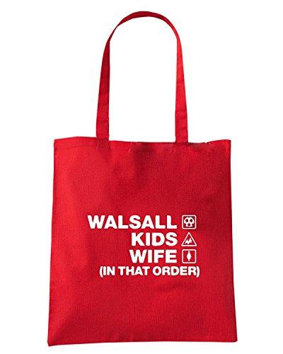 T-Shirtshock - Bolsa para la compra WC1250 walsall-kids-wife-order-tshirt design Rojo