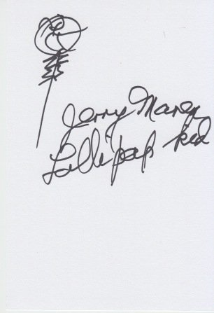 JERRY MAREN (Lolipop Kid The Wizard of Oz) signed sketch