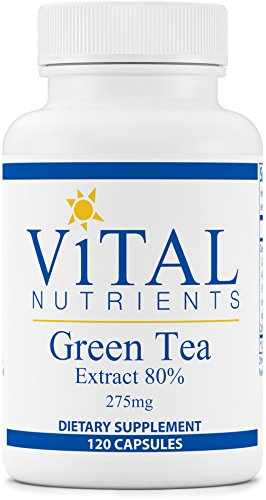 Vital Nutrients - Green Tea Extract 275 mg - Potent Antioxidant & Immune Enhancer - 120 Capsules by Vital Nutrients