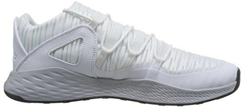 Jordan Hommes blanc Chaussures Loup Gymnastique Formule Nike Blanc Bas Noir 23 Blanc Gris q5848pwR