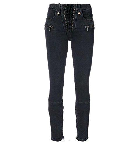 lastique WanYang Croises Leggings Dcoration Pantalon Noir Zipper Denim Jeans Dlav Femmes Coupe Sangles RSnWRrH
