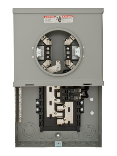 Meter Breaker Panel (Siemens MC1020B1100S 10 Space 20 Circuit 100-Amp Surface Mount Meter Load Center Combination with Ring Type Cover)