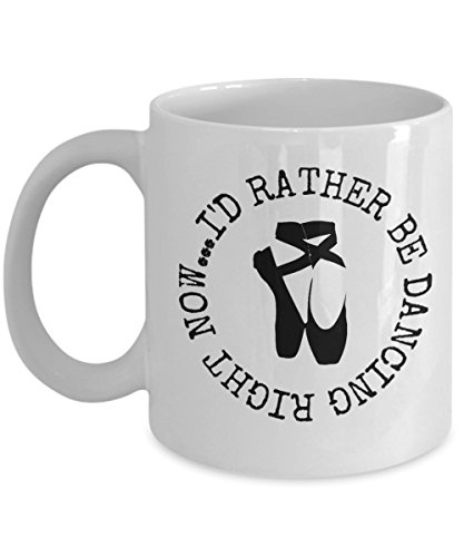 Intomyz Coffee Mug Dance Gifts For Daughter With Cute Ballet Shoes And Funny Saying by Intomyz