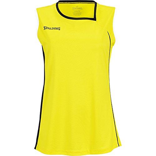 Spalding 3002411 - Camiseta de baloncesto para mujer (- Jaune/Noir/Blanc)