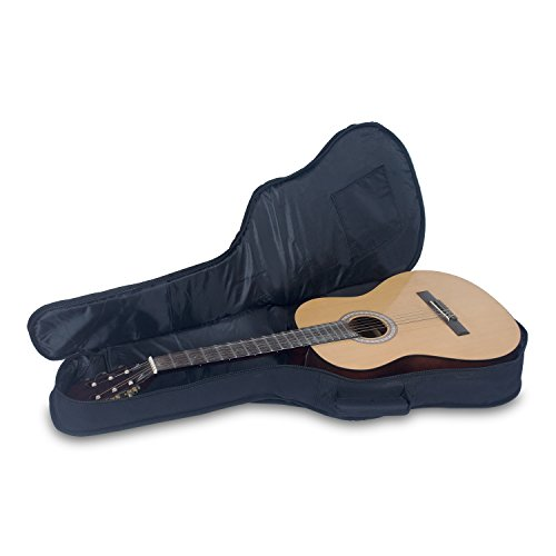 Crossrock CRSG106CTBK 3/4 Size Classical Guitar Bag with 10mm Padded Backpack Straps in Black