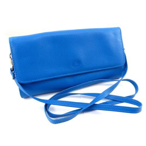 "Bolso de la bolsa de cuero ""Frandi"" azul (2) bellows."