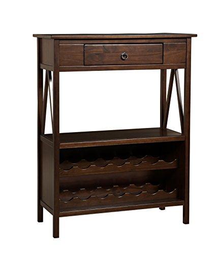 Linon Titian Wine Cabinet 86161ATOB-01-KD-U (Console Bar Cart)