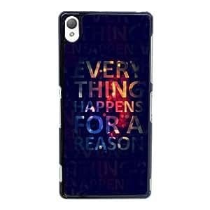 H3A73 todo sucede por una Sony Xperia Z3 caso del teléfono celular razón L6F2PE funda Cubierta Negro AI8CIS8YD