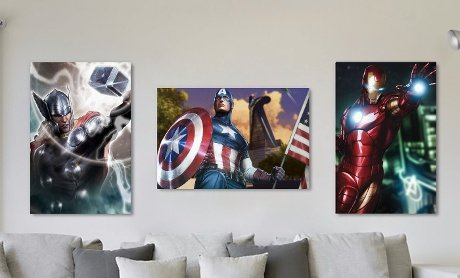 iCanvasART MRV569 No.2 Black Widow, Iron Man, Hulk, Thor, Captain America Falcon Hawkeye Marvel Comics Canvas Print, 40 by 26-Inch, 0.75-Inch Deep by iCanvasART