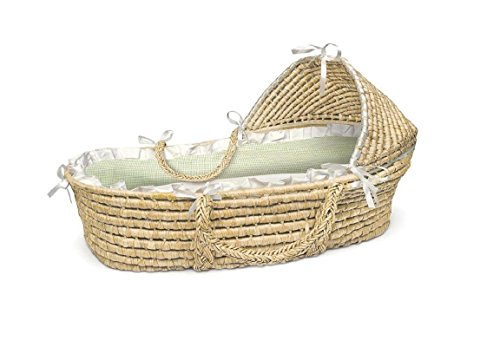 Educational &Fun By Badger Hooded Moses Basket ()