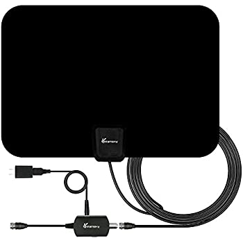 TV Antenna - Vansky Indoor Amplified HDTV Antenna 50 Mile Range with Detachable Amplifier Signal Booster, USB Power Supply and 16.5FT High Performance Coax Cable - Upgraded Version Better Reception